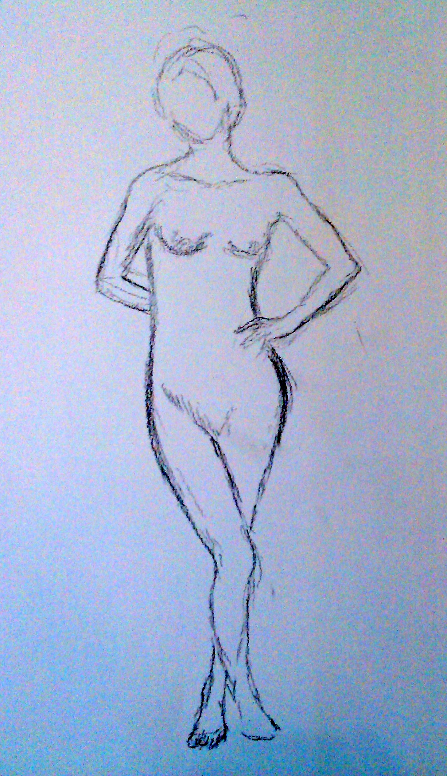 my 1st pose is about 10 minutes with a bit of a twist