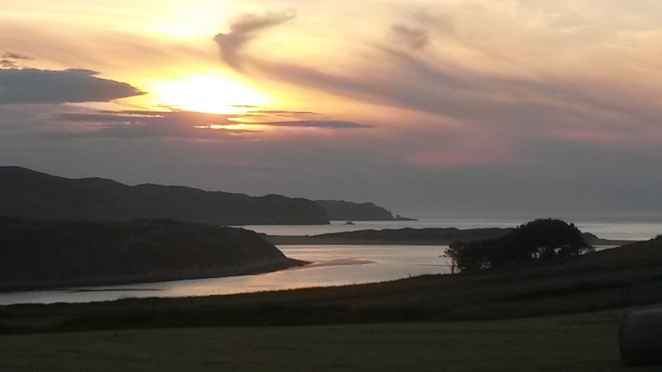 Summer sunset over Torresdale Bay, Bettyhill